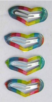 Sweethearts - Hårspænder - Regnbue hjerter