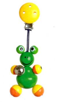Barnevognsophæng i træ, med navn sød frø