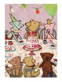 Maileg kort - T&F Teddys Birthday - Rosa