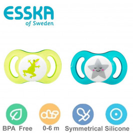 Esska Classic sutter - Anatomisk silikone - Str.1 (0-4 mdr) - 2 stk