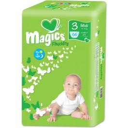 Magics - Engangsbleer - Baby bleer - Flexidry Midi 4-9 kg - 66 stk.