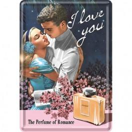 Nostalgic Art - Metal Lykønskningskort - Fødselsdagskort - I Love You Perfume