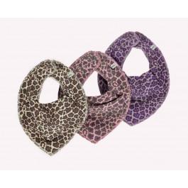 Pippi - bandana savlesmæk - Leopard print - Lavendel
