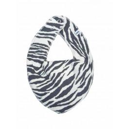 Pippi - bandana savlesmæk - Zebra strib - Creme