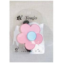 Hårelastik - Retro blomst - Lyserød