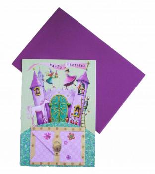 Lykønskningskort - Fødselsdagskort - Prinsesse