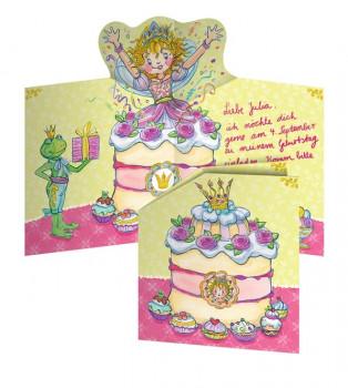 spiegelburg - Indbydelser til børne fødselsdag - Prinsesse Lillifee