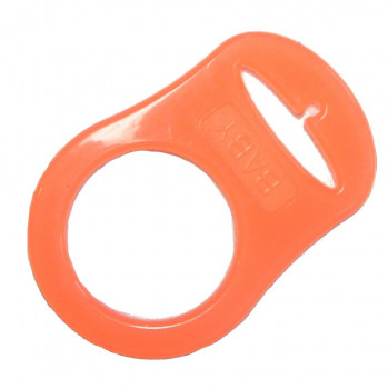 Mam adapter - Silikonering transparent orange til suttekæder