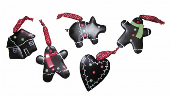 Julepynt - Honningkage ornamenter 5 stk