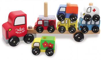 Vilac - Lastbil med 6 biler