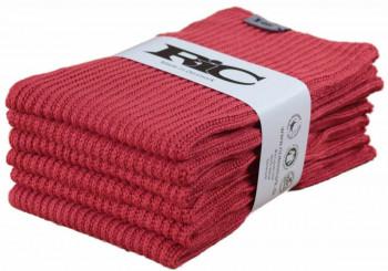 RIC - Økologisk strikket karklud -  Rød