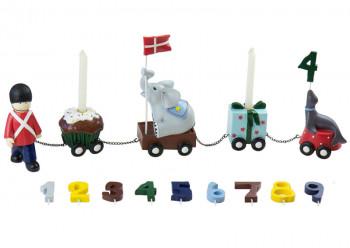 Kids by Friis - Fødselsdagstog m. 9 tal - Garder