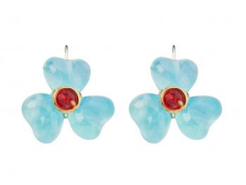 Lalo - Øreringe - Blue heaven flower