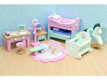 Le Toy Van - Dukkehusmøbler - Rosebud - Børneværelse