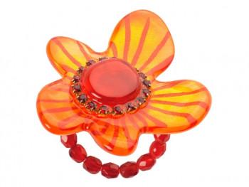 Lalo - Ring - Orange Flower