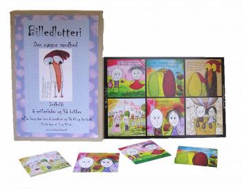 Tusindfryd - Lykønskningskort - Fødselsdagskort og gavemærker - Billedlotteri - 6 spille plader.