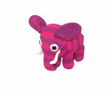 Smallstuff - Håndhæklet elefant - Pink/Lilla