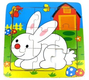 Puslespil med en kanin