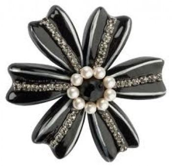 Lalo - Halskæde - Big Black Flower