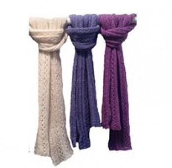 DIY - BC Garn - Strikkekit - Lækkert halstørklæde i babyalpca - Grøn