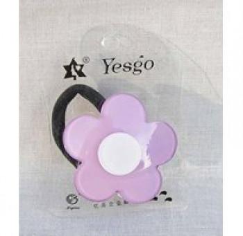 Hårelastik - Retro blomst - Lilla