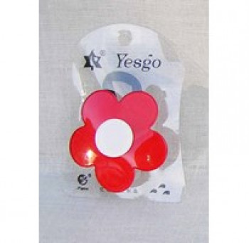 Hårelastik - Retro blomst - Rød