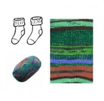 DIY - Lækre strømpe Strikke kit - I superwash merino uld - Grønne nuancer - str. 34 - 43