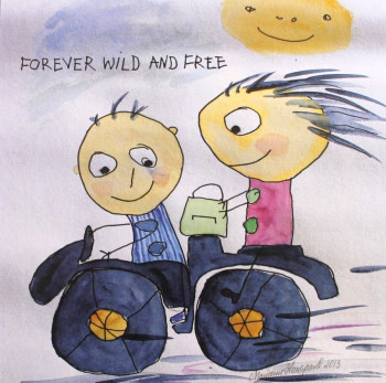 Tusindfryd - Lykønskningskort - Fødselsdagskort - Forever wild....
