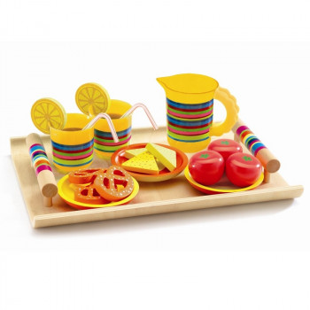 Djeco - Legekøkken - Spisestel i træ - Aperitif bakke