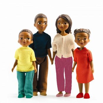 Djeco - Petit Home - Dukke familie til dukkehus - Familien Milo & Lila