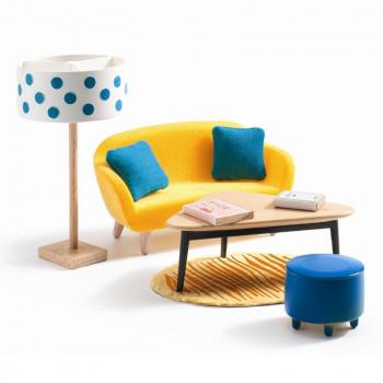 Djeco - Petit Home - Dukkehus møbler - Den orange stue