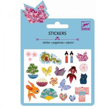 Djeco - Små klistermærker - Glimmer - Japansk Design