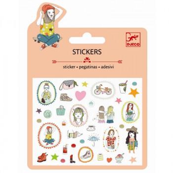 Djeco - Små klistermærker - Glimmer - Mode