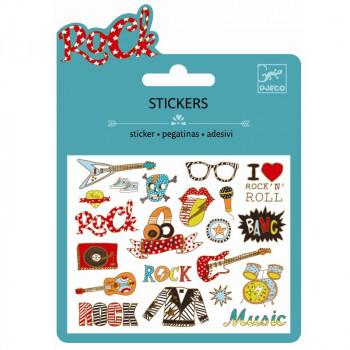 Djeco - Små klistermærker - Metallic - Pop & Rock