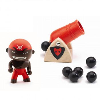 Djeco - Arty Toys - Piratfigur – Djambo & kanon