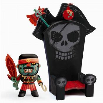 Djeco - Arty Toys - Piratfigur – Kyle & pirat trone
