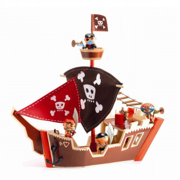 Djeco - Arty Toys - Piratfigur – Piratskib