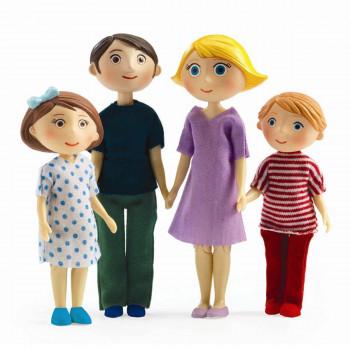 Djeco - Petit Home - Dukke familie til dukkehus - Familien Gaspard & Romy