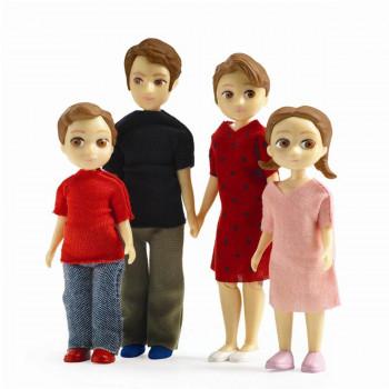 Djeco - Petit Home - Dukke familie til dukkehus - Familien Thomas & Marion