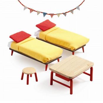 Djeco - Petit Home - Dukkehus møbler - Børneværelse