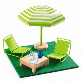 Djeco - Petit Home - Dukkehus møbler - Terrassemøbler