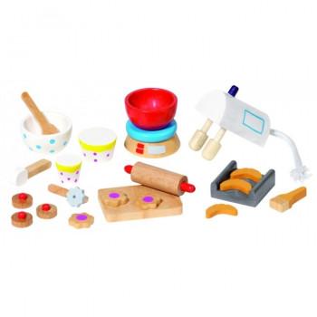 Goki - Tilbehør til dukkehus - Køkken sæt