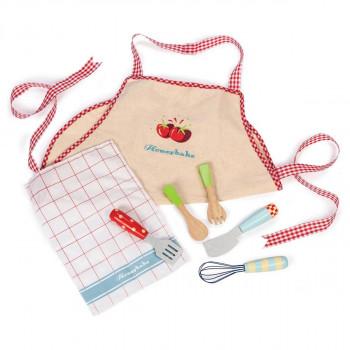 Le Toy Van - Legemad i træ - Honeybake - Børne forklæde & køkkenredskaber