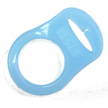 Mam adapter - Silikonering transparent blå til suttekæder