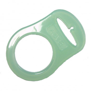 Mam adapter - Silikonering transparent mint grøn til suttekæder