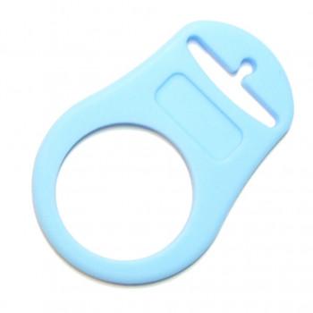 Mam adapter - Silikonering lyseblå til suttekæder