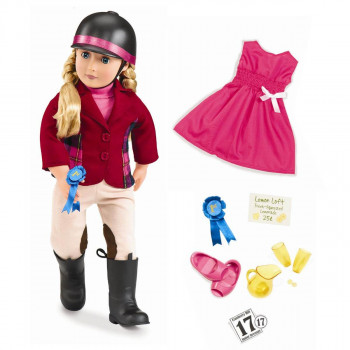 Our Generation - Dukke 46 cm - Lilly Anna med ekstra tøj