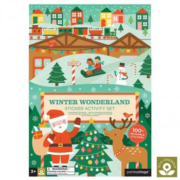 Petit Collage - Aktivitetssæt m. klistermærker - Jul