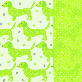 Servietter - Lime med gravhund - 20 stk