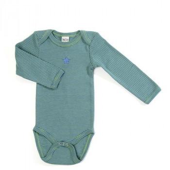 Smallstuff - Body Økotex - Oliven/blå - Str. 62